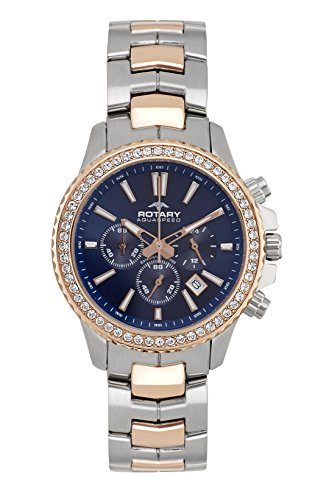 Rotary ALB00087-C-05 Ladies Aquaspeed Summer Rose Two Tone Chronograph Watch by Rotary