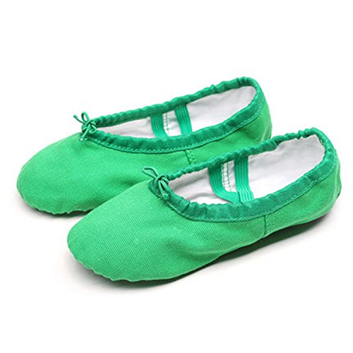 Better Annie Sale Child Girl Soft Split Sole Dance Ballet Shoe Cotton Comfortable Fitness Breathable Toddler Canvas Practice Gym Slipper Green Child Size 8