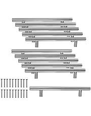 JZK 10 x roestvrij stalen handgrepen meubelgreep stanggreep boorgatafstand 128 mm relinggrepen voor kast lade kledingkast kastdeur
