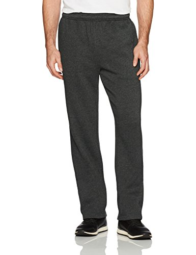 Amazon Essentials Men's Fleece Sweatpants, Charcoal Heather, Large ()