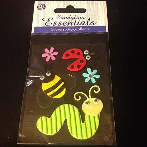 Sandylion Essentials Stickers Garden Bugs