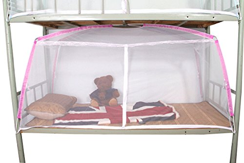 Folding Mosquito Net Camping Mosquito Net Bed Canopy Curtain from Mily Pink Edge