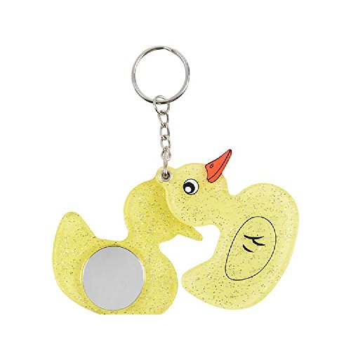 2.25'' Duck With Mirror Keychain by Bargain World