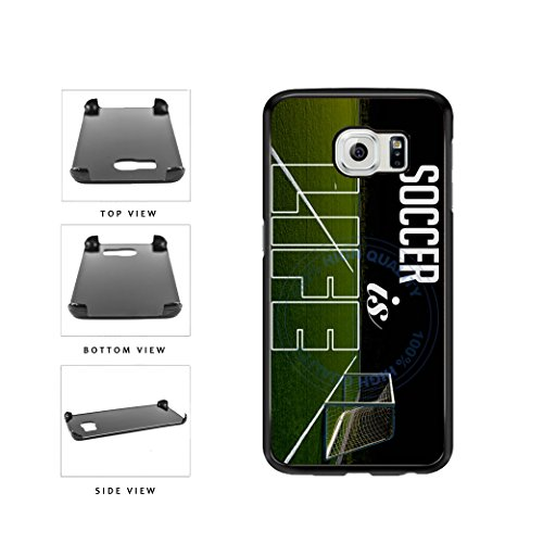 BleuReign(TM) Soccer Is Life Plastic Phone Case Back Cover For Samsung Galaxy S6 Edge