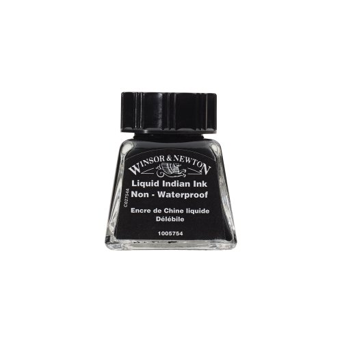 Water Soluble Ink - Winsor & Newton Drawing Ink Bottle, 14ml, Liquid Indian