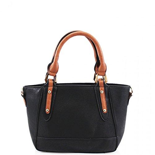 LeahWard? Women's Small Size Tote Shoulder Top Handbags For Women Girl 963 Black H20cm X W33cm X D10cm