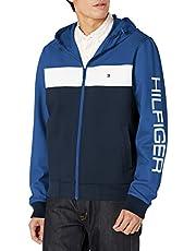 Tommy Hilfiger mens Retro Colorblocked Hooded Track Jacket