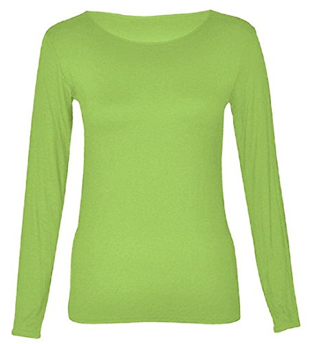 Hot Hanger Womens Long Sleeve Scoop Neck Top UK 8-28 (24-26 (3XL) - Women Hot Uk