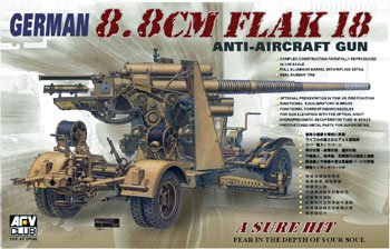 (AFV35088 1:35 AFV Club German 88mm Flak 18 Anti-Aircraft Gun [MODEL BUILDING KIT])