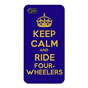 Apple Iphone Custom Case 5 5s Snap on - Keep Calm and Ride Four-Wheelers