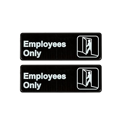 Employees Only Sign - Black and White, 9
