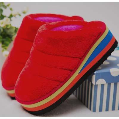 LaxBa Ladies Cachemire tricoté coton Anti-Slip Chambre rouge38-39