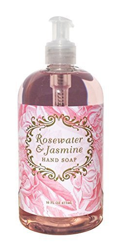 Greenwich Bay Trading Co. Luxurious Hand Soap, 16 Ounce, Rosewater & Jasmine -