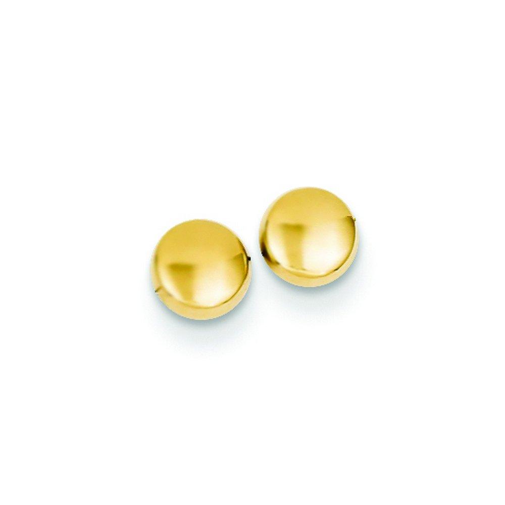14k Polished Half Ball Post Ear