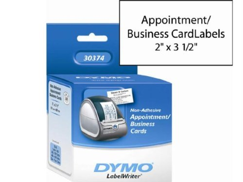 - DYMOamp;reg; - Business/Appointment Cards, 2 x 3 1/2, White, 300/Box - Sold As 1 Box - Presents Copy Clearly.