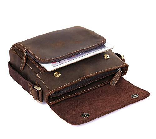 Uomo In 28x7 Pelle Vintage Borsa A 5x28cm Da Spalla Sxuefang Tracolla XTWUAT4