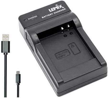 BCK7 Lemix Ultrad/ünnes USB Ladeger/ät f/ür die Panasonic DMW-BCK7E Batterie zu der aufgelisteten Panasonic DMC Serie Modelle