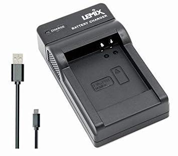 Lemix (BCM13E) Cargador USB Ultra Slim para baterías Panasonic DMW-BCM13E para Modelos (enumerados a continuación) Panasonic Lumix