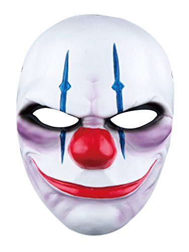 [Century Star Deluxe Novelty Halloween Costume Party Head Scary Mask Clown Clown One Size] (Homemade Scary Clown Halloween Costumes)