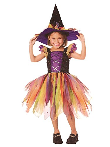 Let's Pretend Child's Glitter Witch Costume, Medium
