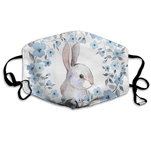 Bunny Camo (TRUSTINEEB Bunny Rabbit Portrait Breathe Healthy Dust,Allergy & Flu Mask Comfortable,Washable Protection from Dust,Pollen,Allergens,Cold & Flu Germs with Antimicrobial Asthma Mask)