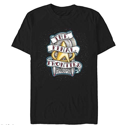 Star Trek Men's Final Frontier Tattoo Black T-Shirt