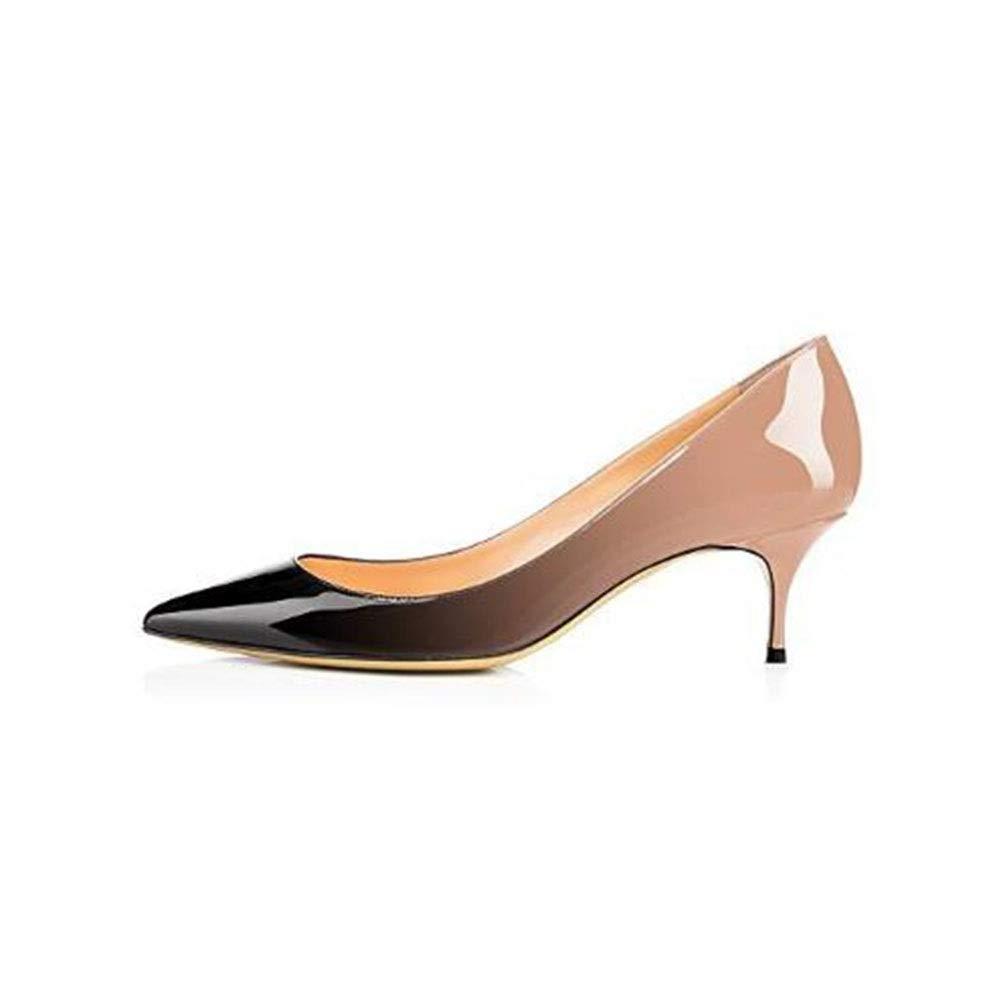 TYD.L High Heels A243 Frauen Frauen Frauen PU + Gummi Mode Schön Sexy Schuhe Anziehen High Heels Einzelne Schuhe Frühling Und Sommer 6CM 6 Farben (Farbe   S-4 größe   EU38 UK5.5 CN38) 418f58