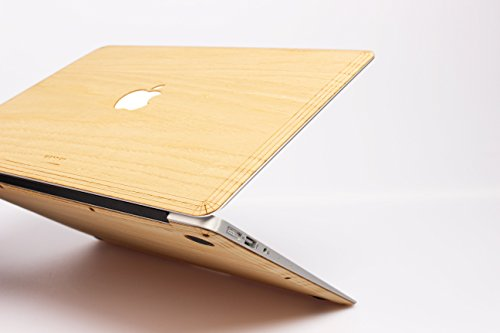 WOODWE Real Wood MacBook Skin Sticker Decal for Mac pro 15 inch Retina Display | Model: A1398; Mid 2012 – Mid 2015 | Genuine & Natural ASH Wood | TOP&Bottom Cover by WOODWE (Image #4)