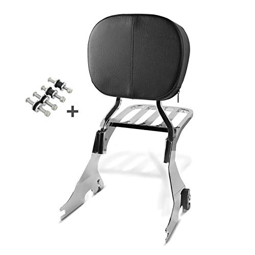 Craftride Sissy Bar w luggage rack and docking kit for Harley Davidson Sportster 1200 CB Custom 13-17 chrome