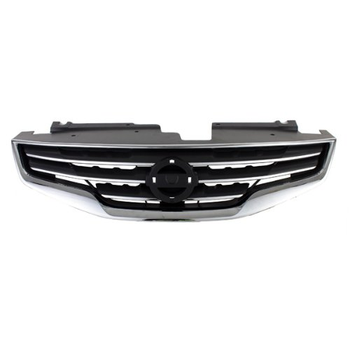 - CarPartsDepot, Sedan Front Grille New Black Frame Chrome Shell, 400-361695 NI1200236 62070ZX00A