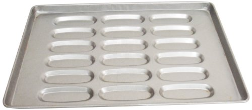 Magna Industries 14820 18-Gauge Aluminized Steel Hot Dog Bun Pan, 6'' Length x 2-1/16'' Width, 3 x 6 Cups Layout (Pack of 6) by Magna Industries