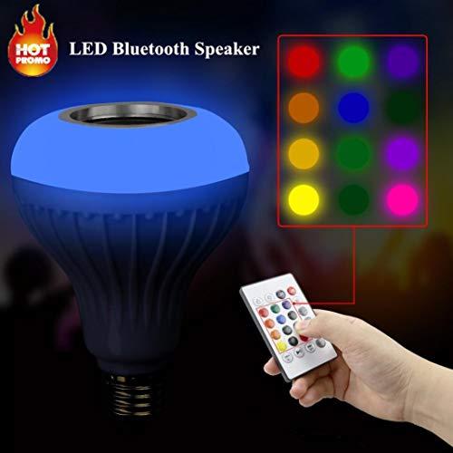 LED Bulbs coersd MusicLed Light Bulb with Bluetooth Speaker RGB Built-in Audio Speaker