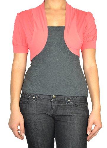 143Fashion Ladies Fashion Cardigan (Small, Coral)