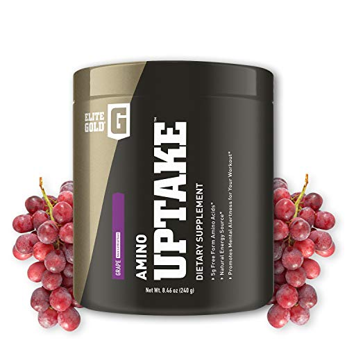 Complete Nutrition Elite Gold Amino Uptake, Grape, Amino Acid Supplement, Increase Energy, Support Muscle Recovery, Beta Alanine, L Citrulline, 8.46 oz Tub (30 Servings) For Sale