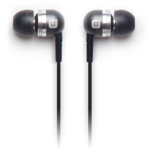 Earjax BZ-EBP32-0611M Bump Series Headphones with Inline Mic, Gray/Silver Gray/Silver ()