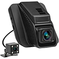2.45 Car Dash Cam, Full-HD 1080P Front + 720P Rear 290 Degree Super Wide Angle Car Dash Cam with WDR, Loop Recording, G-Sensor, Parking Mode etc