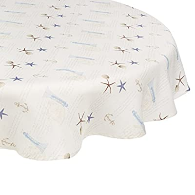Avanti Linens Antigua Table Cloth Round 70-Inch, Multi - Avanti Linens Shore decor from Avanti For decorative bathrooms and guest bathrooms - tablecloths, kitchen-dining-room-table-linens, kitchen-dining-room - 414kjuE qCL. SS400  -