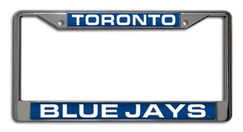 MLB Toronto Blue Jays Laser-Cut Chrome Auto License Plate Frame