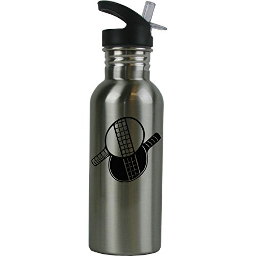 Personalized Custom Ping Pong Stainless Steel Water Bottle with Straw Top 20 Ounce Sport Water Bottle Customizable by CustomGiftsNow