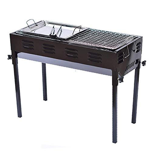 NILINMA Grills Grill Charcoal Bbq Stainless Steel Multi-function Grill Portable Wild Carbon Grilling Shelf Detachable…