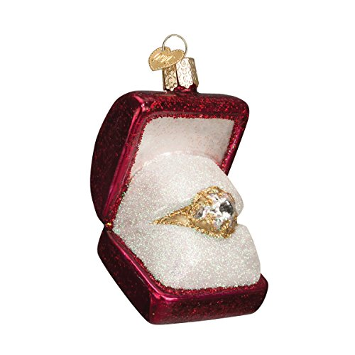 Old World Christmas Ring In Box Glass Blown - Centre Stores Circle Mall
