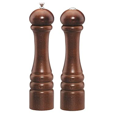 Chef Specialties 10  Imperial Pepper Mill and Salt Shaker Set, Walnut
