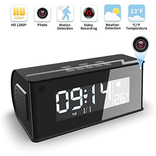 Hidden Camera, WAKYME 【Upgraded】 Spy Camera Clock, 1080P Wireless Hidden Cameras Speaker, Mini WiFi Camera Wireless Security Cameras with Night Vision for Home and Office, Surveillance Camera Full