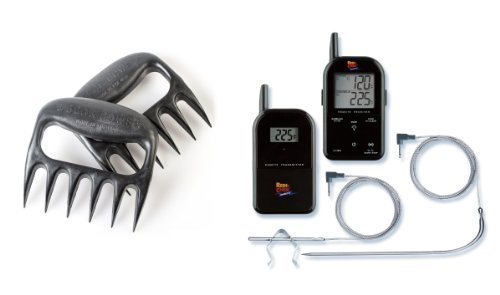 Maverick Wireless Barbecue Thermometer - Black ET732 - Includes Bear Paw Meat Handlers by Generic