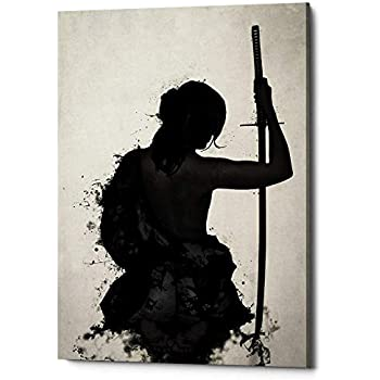 Cortesi Home Female Samurai-Onna Bugeisha Giclee Canvas Wall Art, 12