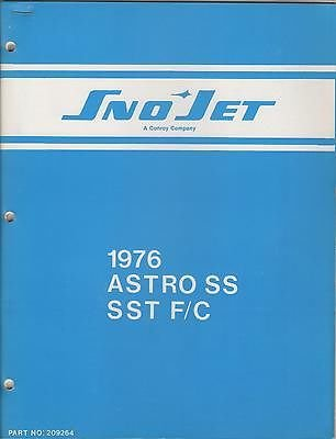 (1976 SNO-JET ASTRO SS, SST F/C P/N 209264 PARTS MANUAL (732))