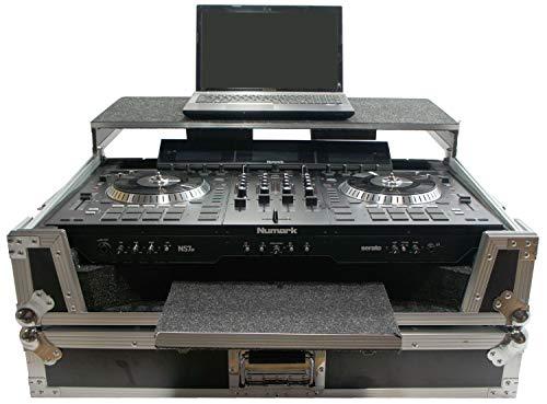 (Harmony HCNS7LTWFXTR Flight Glide Laptop Stand Combo DJ Case fits Numark NS7 III)