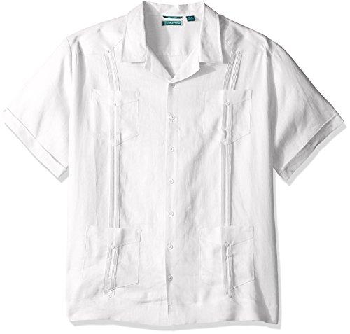 Cubavera Men's Big and Tall Short-Sleeve 100% Linen Guaya...