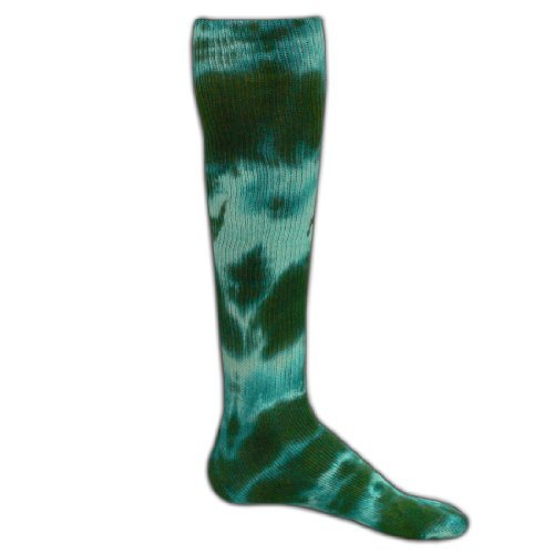 Red Lion Revolution Tie Dye Cotton Athletic Tube Socks ( Kelly Tie Dyed - Medium (Tie Dye Youth Socks)