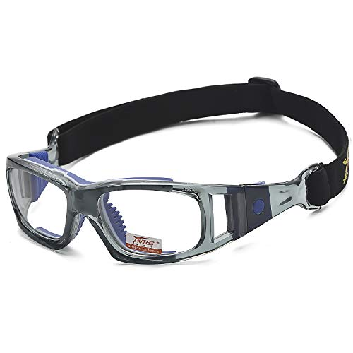 Pellor Goggles Sports Glasses Adjustable Elastic Wrap Eyewear For Soccer Basketball Tennis Lover ()